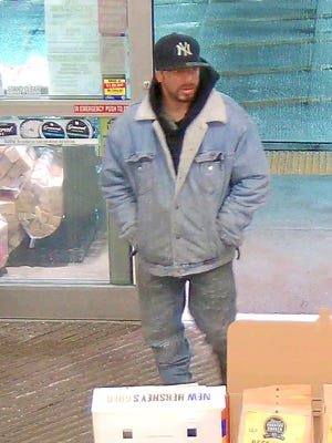Horseheads police are looking for this man in connection with theft from a village convenience store.
