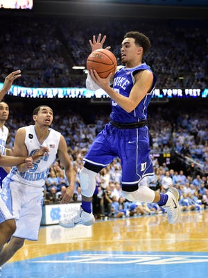 Duke's Tyus Jones led the way with 24 points — 17 in the second half — six rebounds, seven assists and 12-for-12 from the free throw line.