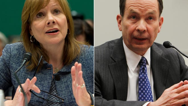 General Motors CEO Mary Barra and former U.S. Attorney Anton R. Valukas appeared before the House Energy and Commerce Committee's oversight subcommittee on Wednesday about faulty GM ignition switches.