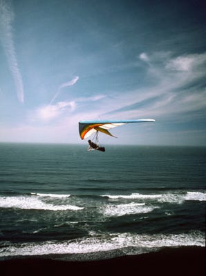 If you get the urge to go hang-gliding, don't bother asking author Collette Cameron. (Photo: Medioimages/Photodisc, Getty Images)