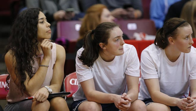 Chloe Pavlech was in town when the Connecticut women's team defeated the University of Cincinnati 96-49. The former Sycamore and University of Maryland player is now an intern for the Huskies and coach Geno Auriemma.