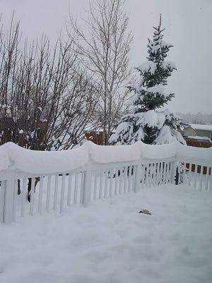 Snow in Flagstaff on Thursday, Jan. 7, 2015.