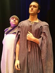 Jake Stich, left, plays Bors. Isadore McCusker plays Concorde. They play multiple roles in Spamalot.