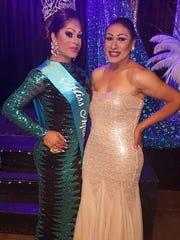 Danissa Castello (left), 25, stands next to her friend