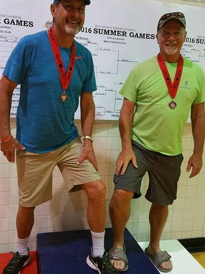 Ray Brahy and Randy Chilton, New Mexico Senior Olympians, boasted a silver medal for pickleball in the 60-64 division.