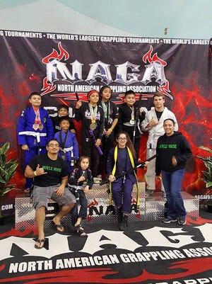 A number of local athletes from Muscle House & Brazilian Jiu-Jitsu in Odem competed in the North American Grappling Association Tournament in San Antonio on Feb. 4. Competitors are from Sinton, Odem, Calallen and Orange Grove. 