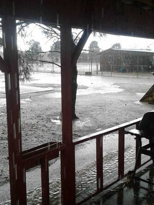 Hail in Carlsbad