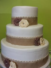 This wedding cake showcases the smooth icing technique