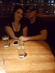 Shaun Holder with his girlfriend, Jami Rye, on their