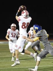 Waverly receiver Scott Woodring gets up for a catch.