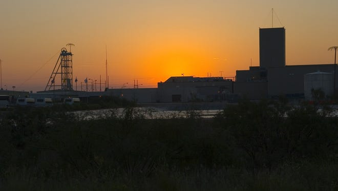 The Waste Isolation Pilot Plant at sunrise.