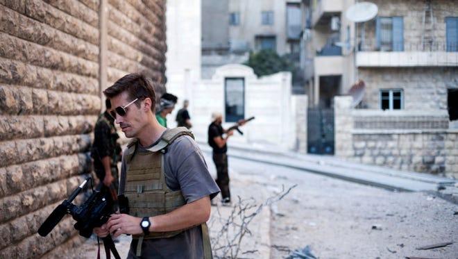 James W. Foley in 2012 in Aleppo, Syria.