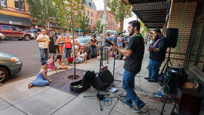 Musicians perform during 2016's Make Music Day in downtown Salem.