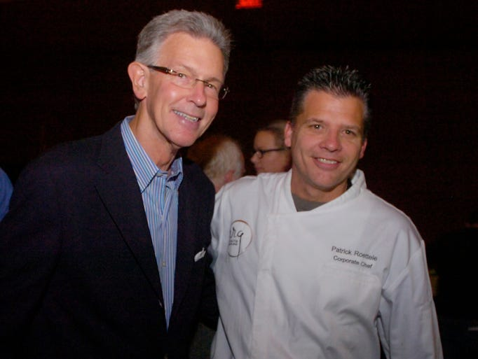 Restaurateur Bill Roberts and Chef Pat Roettele at Vine & Dine.