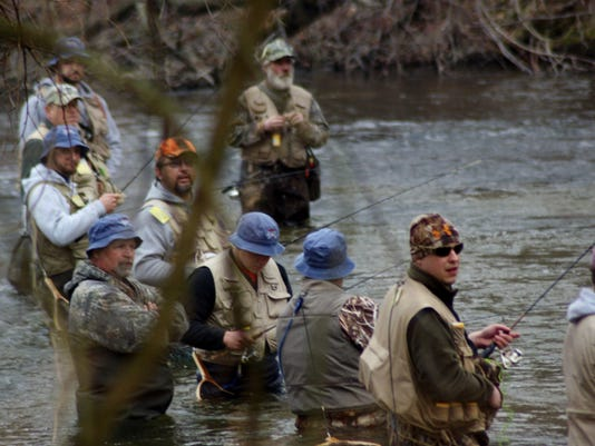 Crowded conditions on the streams like this will thin out after the season opener.