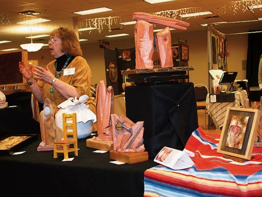Luna County sculptor Diana LeMarbe showed many of her pieces during the 2014 Black Range Artists Plein Air and Fine Art Show in Deming.