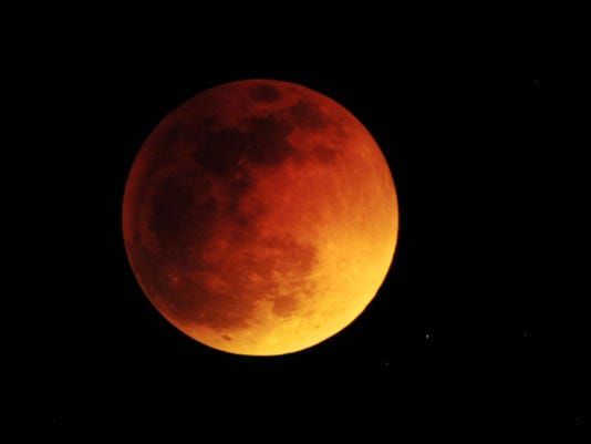 A lunar eclipse will occur Sunday evening beginning at 8:11 p.m. and will be visible from Lincoln County.