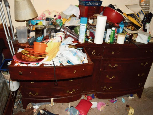 This photo of the inside of the Farmington residence of Mike and Angela Horman was provided by police.
