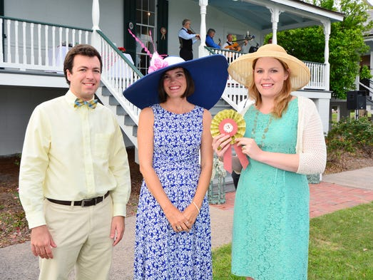 Matt Rizzo, Jena Melancon and Chloe Bacon at The Gulf Coast Citizen Diplomacy Council Mint Jubilee pre-Derby Day soiree.
