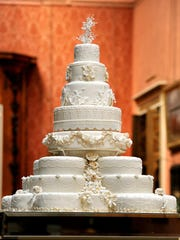 The eight tiered wedding cake made by Fiona Cairns