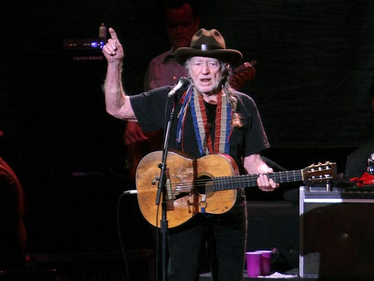 In this file photo: Willie Nelson performs at the Plaza Theatre.