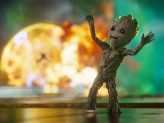 Groot, there it is: Baby Groot's dance moves are anything