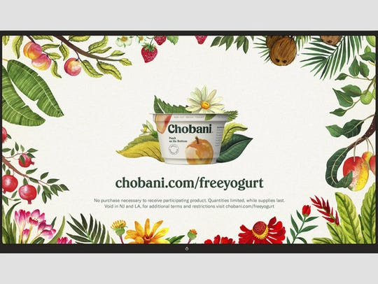 Chobani is giving away coupons for free yogurt.
