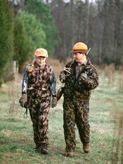 The N.C. Wildlife Resources Commission requires hunters to wear blaze orange during hunting season.