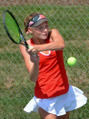 Andie Weise helped Homestead capture the girls team tennis title on Saturday in Madison.