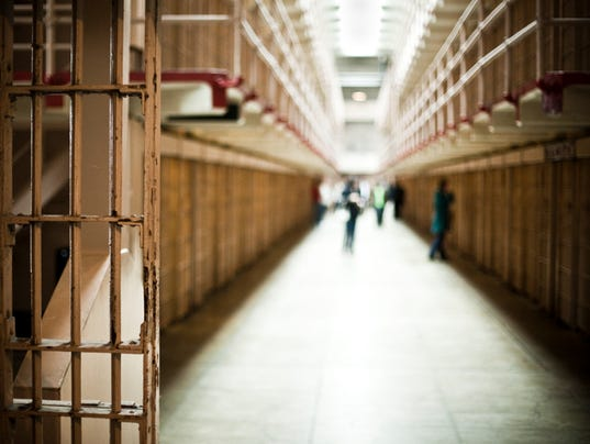 Corridor of Prison with Cells