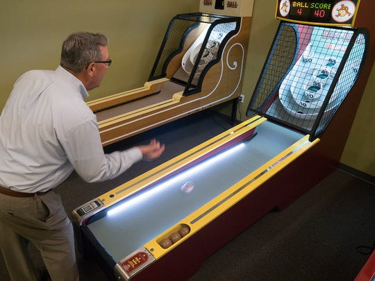 Doug Wildey isn't just a pinball wizard. He plays a good game of Skee Ball, too.