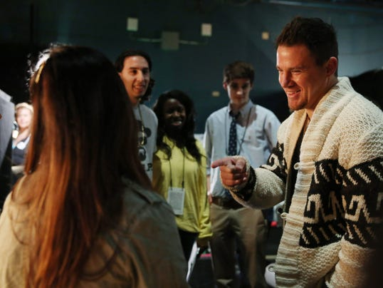 Channing Tatum backstage at Oscar rehearsals
