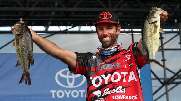 Michael Iaconelli of Pittsgrove, N.J., has taken the lead on Day 2 of the Bassmaster Elite at Delaware with a two-day total weight of 24 pounds, 3 ounces.
