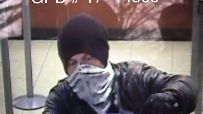 The suspected bank robber