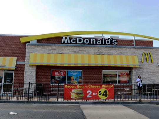 The McDonald's on Cumberland Avenue in Knoxville, Tennessee