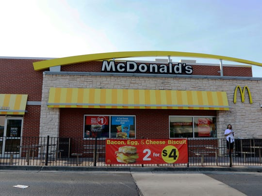The McDonald's on Cumberland Avenue in Knoxville, Tennessee on July 12, 2018. Many McDonald's restaurants in the area have been undergoing renovations over the past year to help enhance the customer experience.