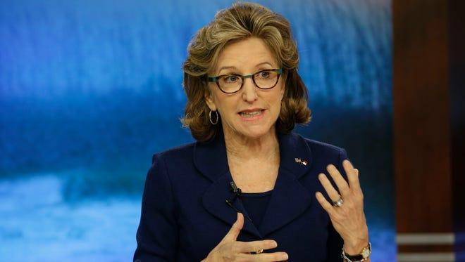Sen. Kay Hagan, D-N.C., comments during a recent televised debate.