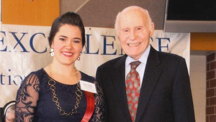 Taylor Hauke with Herb Kohl