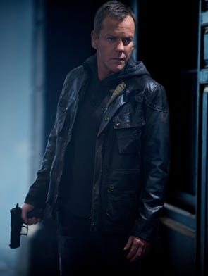 After a 4-year absence, Kiefer Sutherland returns to the role of agent Jack Bauer in '24: Live Another Day' when a half-sized Season 9 of the popular Fox action drama - now set in London - premieres May 5 at 8 ET/PT with 12 episodes.