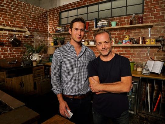 Snapchat's Nick Bell with Tastemade's Steven Kydd at