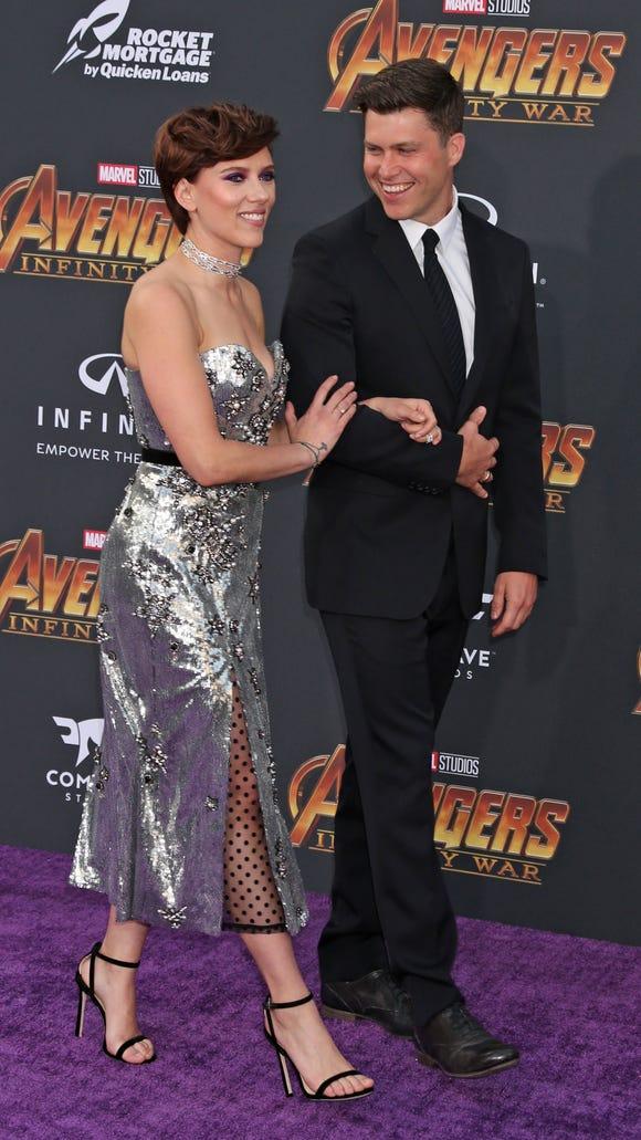 Avengers Infinity War Scarlett Johansson Colin Jost Couple Up