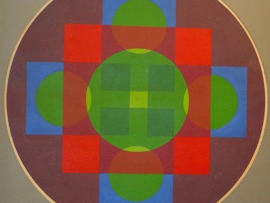 David John Rush=Tondo 14 Gouache 20x20 Chromatic Structuralism 300 dpi