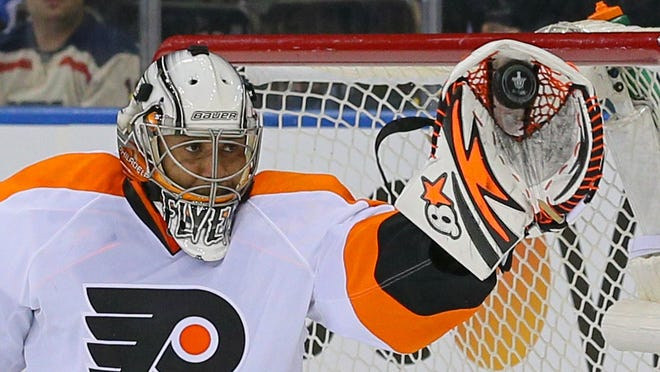 Ray Emery made 32 saves Thursday in Game 1.