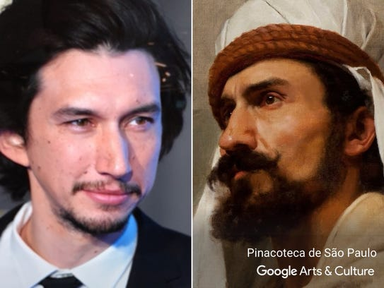 "Adam Driver matched with ""Beduino."""