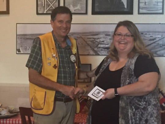 Abilene Founders Lions Club president Jeff Eckard meets