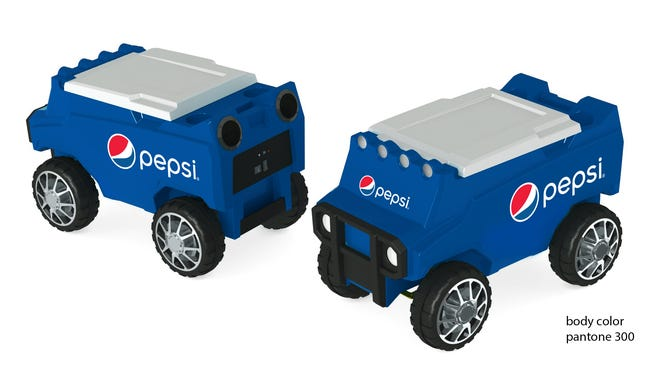 With a range of more than 100 feet, the ability to travel over a variety of terrains and LED headlights, the Pepsi Rover Cooler is sure to be a hit at your next tailgate party.
