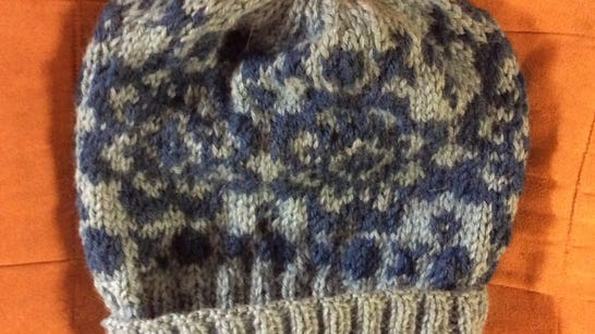 I finished the alpaca Fair Isle hat using Mucklestone's