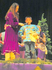 "Rocardo Yuzos, a second-grader and the new Elementary Brave, performed a ""back and forth"" song for his talent."