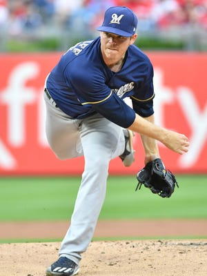 Brewers pitcher Brandon Woodruff.