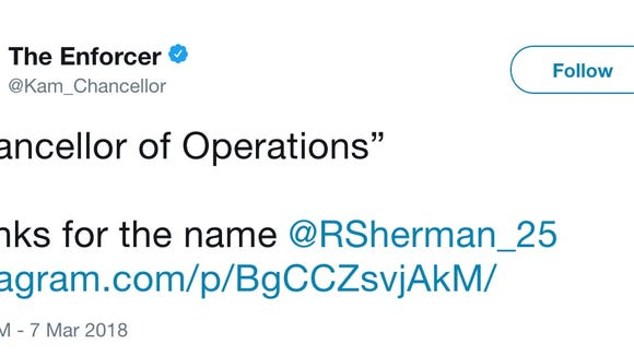 Seahawks players ignite Richard Sherman rumors with cryptic tweets